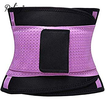 c61dcfef11 Palicy Belly Slimming Belt Waist Cincher for Women Men Waist Trainer  Shapewear Tummy Shaper Corset Girdle Modeling Strap  USPS  Color Purple  Size M  ...