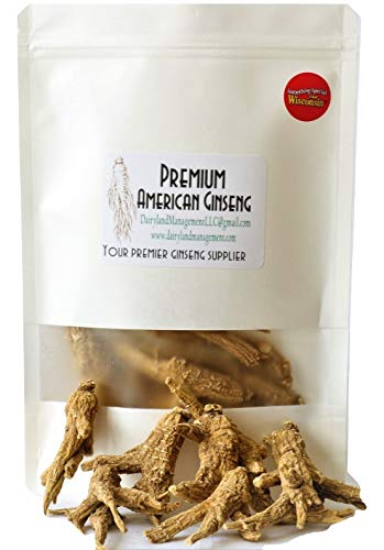 Authentic American Ginseng Whole Root 西洋参 (Non-GMO, Gluten Free Herb, Wisconsin Root) (4 oz)