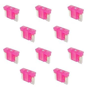 10 Flachstecksicherung Mini-Sicherung 4A 32V pink