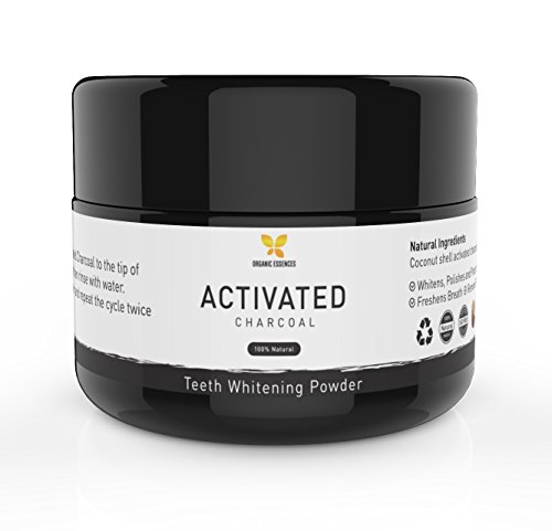 Natural Charcoal Teeth Whitening Powder – 100% Organic Activated Charcoal -Teeth & Gum Anti-Bacterial, Remineralizing Toothpaste, Safe, Fluoride Free, Non-GMO