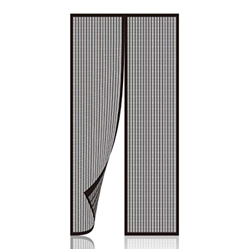 Newkiton Magnetic Screen Door, Heavy Duty, Full Frame Velcro & Tough Mesh, Screen Size 38 inch x 82 inch, Fits Doors Up to 36 inch x 81 inch (Black) (Door Home Patio Screens Depot)
