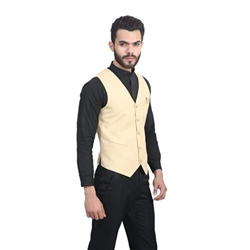 41aNdlBzZJL. SS500  - ManQ Men's Blended Waist Coat
