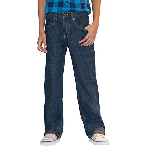 Faded Glory Boys' Relaxed Fit Denim Blue Jeans (Regular & Husky) (5 Regular, Dark Stone) ()