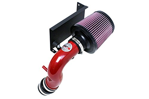 HPS 27-544R Red Shortram Air Intake Kit with Heat Shield (Cool Short Ram SRI) ()