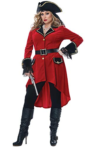 California Costumes Size High Seas Heroine-Adult Plus Women Costume, Red/Black, 2X-Large ()
