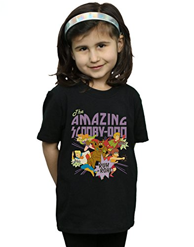 Scooby Doo Girls The Amazing Scooby T-Shirt Black 9-11 Years