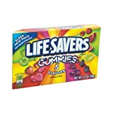 GUMMY LIFESAVER 5 FLAVOR THEATER BOX 3.5 OUNCES 12 COUNT