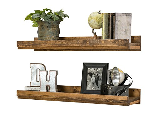 Wall Mounted Wooden Floating Shelves