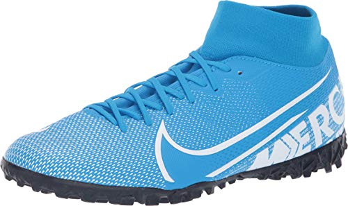 Nike Mercurial Superfly 7 Academy TF Artificial-Turf Soccer Shoe (9.5, Blue Hero)