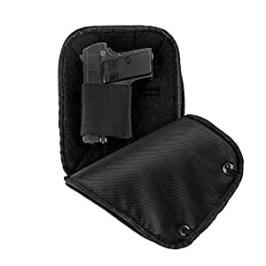 LIRISY CCW Concealed Carry Gun Pouch | Tactical Pistol Conceal Fanny Pack Holster | Handgun Waist Bag with Belt Loops