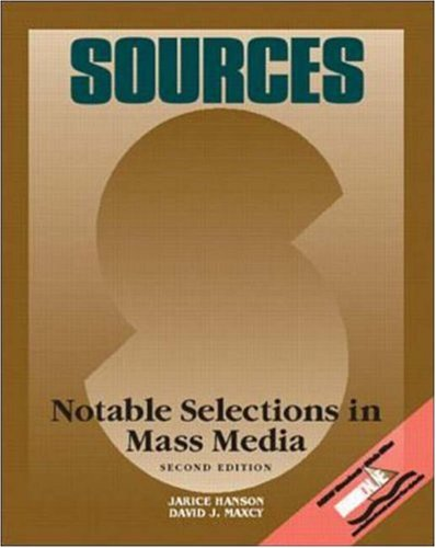 Sources: Mass Media, Second Edition
