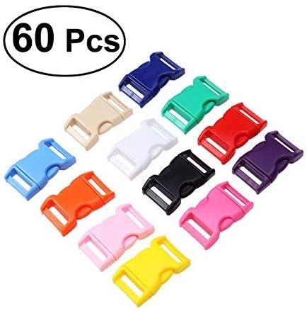 rosenice hebillas de pl/ástico mochila hebilla de liberaci/ón r/ápida para pulsera 20/mm Pack de 60