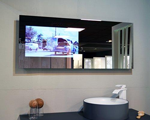 Duriglass spiegel mit smart tv von 24 zoll 61 cm 1.400 x 500 mm