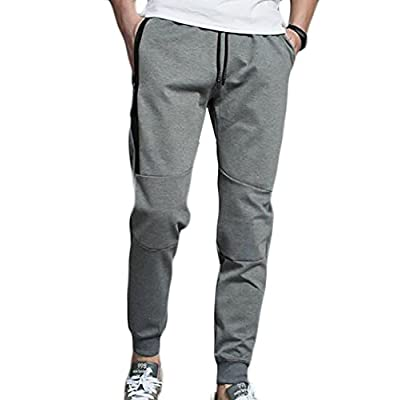 New Papijam Mens Casual Drawstring Running Jogger Comfy Sport Tapered Pant for sale