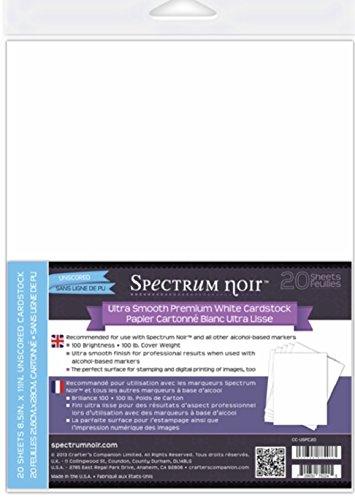 Spectrum Noir Ultra Smooth Premium Cardstock 8.5x11 20/Pkg-White -