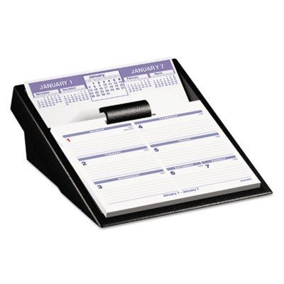 At-A-Glance SW700X00 Flip-A-Week Desk Calendar and Base 5 5/8 x 7 White 2018
