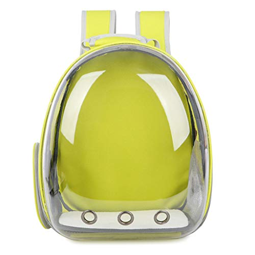 ZH1 Pet Bag Pet Bag Transparent Shell-pet Box Backpack Dog Cat Bag Space Capsule Out Carrying Bag (Color : Yellow)