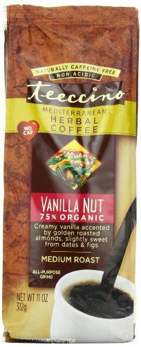 Teeccino Herbal Coffee, Mediterranean Vanilla Nut, Caffeine-Free, 11-Ounce Bags (Pack of 3)