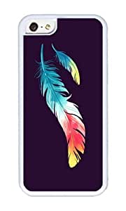 Apple Iphone 5C Case,WENJORS Cool Feather Soft Case Protective Shell Cell Phone Cover For Apple Iphone 5C - TPU White