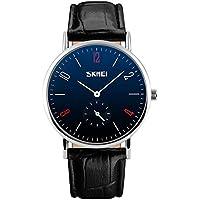 Men's Business Quartz Fashion Watch Leather Band 30M Waterproof Wrist Watches
