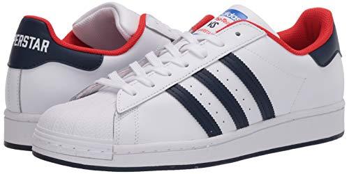 adidas Originals Men's Superstar Shoes Sneaker, White/Collegiate Navy/Red, 5