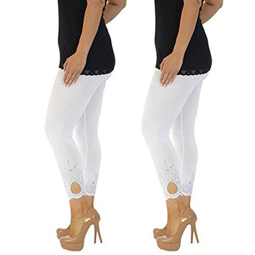 Sport De Magiyard Mince Larges Femmes Yoga Blanc Pantalon Pantalons Femme Imprimé XikuPZ