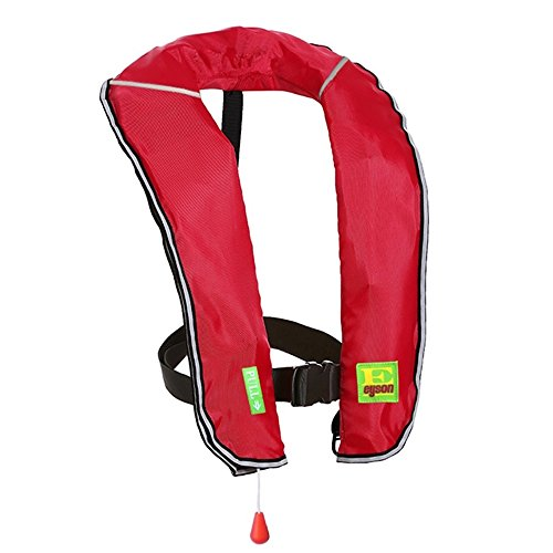 Eyson Inflatable Life Jacket Inflatable Life Vest for Adult Classic Manual (Red)