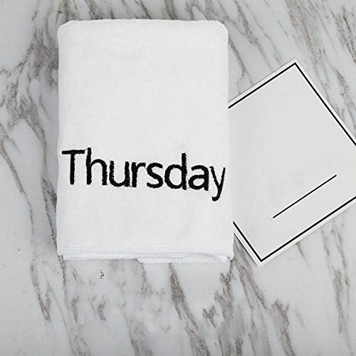 [해외]HUACHEN-LS Soft Bath Towel Size 35x75cm White Fadeless Fiber Household Fitness Absorbent Towel Embroidered Letters Soft and Delicate Stable Structure Towel for Bath Beach (Color : White) / HUACHEN-LS Soft Bath Towel Size 35x75cm Wh...