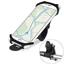 Soporte Movil Bicicleta, Montaña Soporte Bicicleta/Moto Manillar Smartphone Titular Proteger 4.5-6.0 Pulgadas Soporte de Teléfono móvil para iPhone X 6 7 8 Plus, Samsung Galaxy S9 S8 Plus