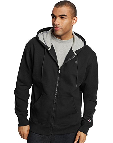 Champion Men's Powerblend Full-Zip Hoodie, Black, XX-Large