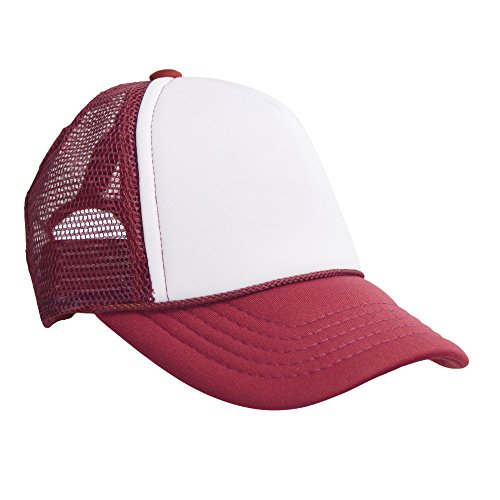 - DALIX Baby Girls Boys Trucker Caps Toddler Hats Childrens Infant Hat Maroon White