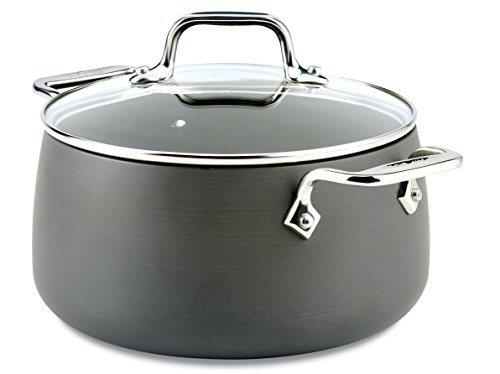 - All-Clad E7854464 HA1 Hard Anodized Nonstick Dishwasher Safe PFOA Free Soup Pot/Stock Pot Cookware, 4-Quart, Black