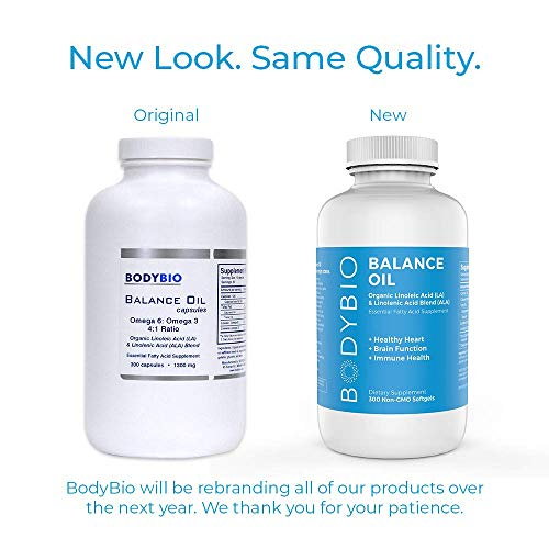 BodyBio Balance Oil, Essential Fatty Acids, Organic Safflower and Flax Seed Oil Blend, 4:1 LA to ALA, 300 Softgels by BodyBio (Image #6)