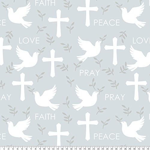 Christian Cross Fleece Fabric by The Yard (Fleece Fabric Religious)