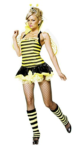 Queen Bumble Bee Costume - Small/Medium - Dress Size (Bumblebee Female Classic Costumes)