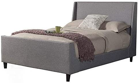 Alpine Furniture Upholstered Bed, Queen, Gray