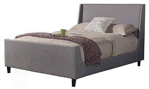 Alpine Furniture Upholstered Bed, Queen, Gray