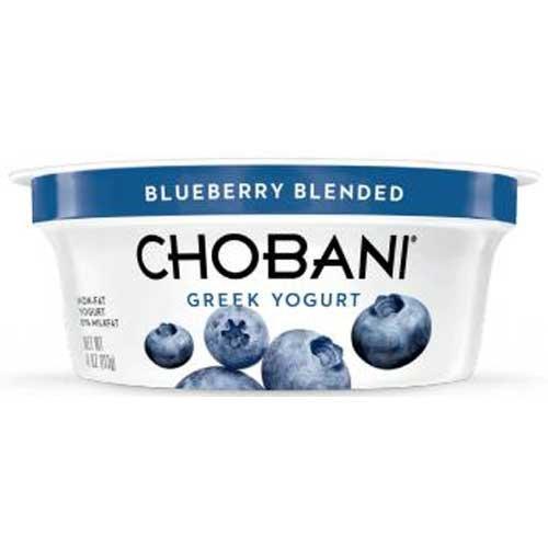 Chobani Blueberry Greek Yogurt, 4 Ounce -- 12 per - Greek Yogurt Chobani