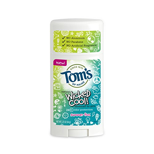 Tom's of Maine Wicked Cool! Teen Girls Natural Deodorant Summer Fun, 2.25 oz