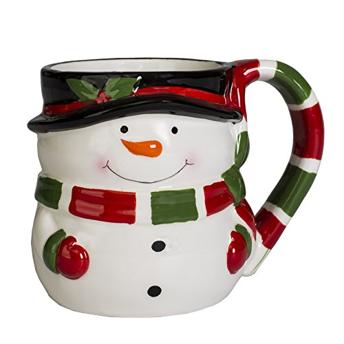 Character Snowman - Snowman Holiday Character 12 ounce Ceramic Dolomite Christmas Coffee Mug
