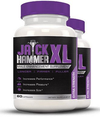 Male Enhancement Pills & Natural Testosterone Booster | Jackhammer XL Enhancing Pills for Men | Best for Increased Size, Stamina, Energy & Libido | Bodybuilding Supplement for Men