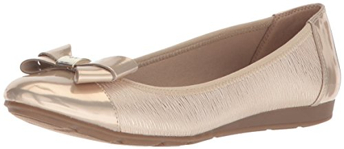 Anne Klein Womens Alphia Synthetic Ballet Flat
