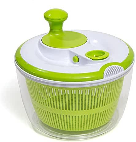 HULLR Premium Salad Spinner With Dressing/Oil Spout & Drainer BPA Free