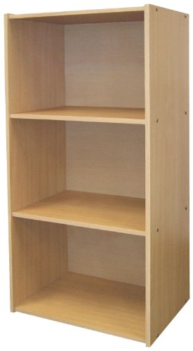 3 Tier Book Shelves Finish: Natural, Size: 3 Tier