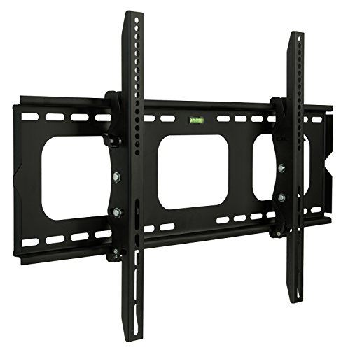 "Mount-It! MI-303-CBL Tilt TV Wall Mount Bracket for LCD, LED, or Plasma Flat Screens, 32"" – 60"" Screen Sizes, HDMI Cable Included, Black"