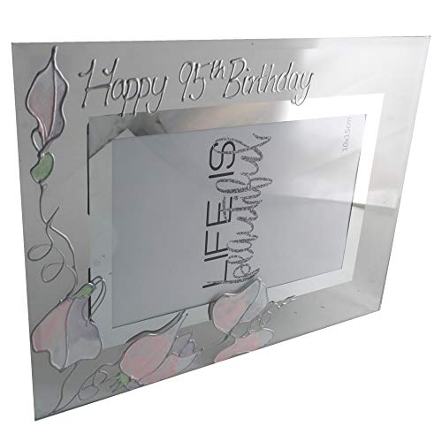Dreamair 95th Birthday Gift Sweet Pea Photo Frame (Land)
