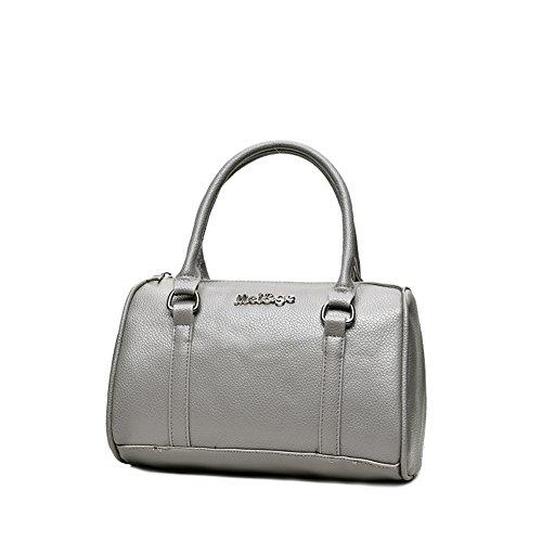 Purse Set 6 Womens Tote Shoulder Pcs H Top Handbag Handle Bags amp;X Gray vxTq5wgZ