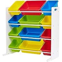Phoenix Home AVH050201 Storage Bin, Green, Yellow, Red, Blue