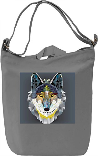 Wolf Print Borsa Giornaliera Canvas Canvas Day Bag| 100% Premium Cotton Canvas| DTG Printing|
