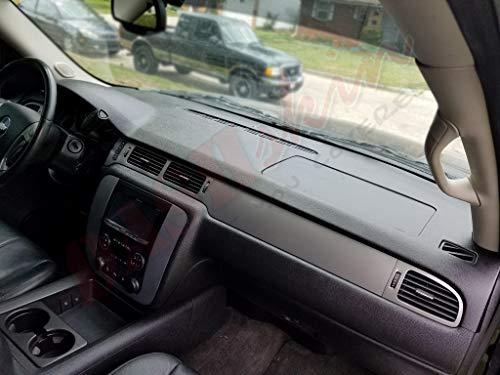 DashSkin Molded Dash Cover Compatible with 07-14 GM SUVs w/o Dash Speaker in Dark Titanium by DashSkin (Image #5)